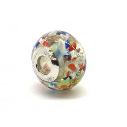 Pandora Style Bead (Mod. FAM) in authentic Murano Glass and 925 Italian Sterling Silver