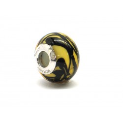 Pandora Style Bead (Mod. RTG1) in authentic Murano Glass and 925 Italian Sterling Silver