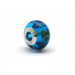 Pandora Style Bead (Mod. RM46) in authentic Murano Glass and 925 Italian Sterling Silver