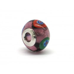 Pandora Style Bead (Mod. RM47) in authentic Murano Glass and 925 Italian Sterling Silver