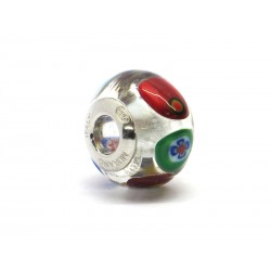 Pandora Style Bead (Mod. RM53) in authentic Murano Glass and 925 Italian Sterling Silver