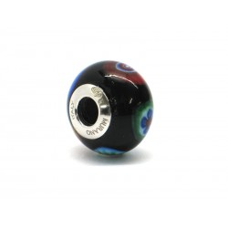 Pandora Style Bead (Mod. RM501) in authentic Murano Glass and 925 Italian Sterling Silver