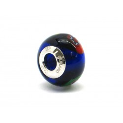 Pandora Style Bead (Mod. RM503) in authentic Murano Glass and 925 Italian Sterling Silver