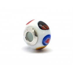 Pandora Style Bead (Mod. RM504) in authentic Murano Glass and 925 Italian Sterling Silver
