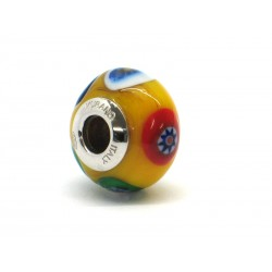 Pandora Style Bead (Mod. RM505) in authentic Murano Glass and 925 Italian Sterling Silver