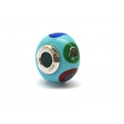 Pandora Style Bead (Mod. RM506) in authentic Murano Glass and 925 Italian Sterling Silver