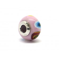 Pandora Style Bead (Mod. RM507) in authentic Murano Glass and 925 Italian Sterling Silver