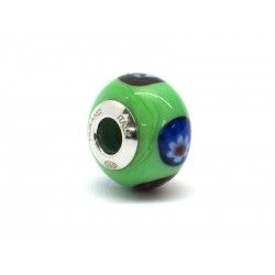 Pandora Style Bead (Mod. RM508) in authentic Murano Glass and 925 Italian Sterling Silver