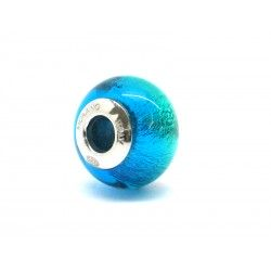 Pandora Style Bead (Mod. RSD1) in authentic Murano Glass and 925 Italian Sterling Silver