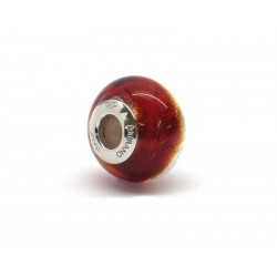Pandora Style Bead (Mod. RSD4) in authentic Murano Glass and 925 Italian Sterling Silver