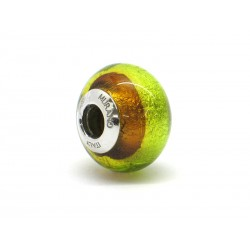 Pandora Style Bead (Mod. RSD5) in authentic Murano Glass and 925 Italian Sterling Silver