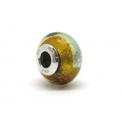 Pandora Style Bead (Mod. RSD6) in authentic Murano Glass and 925 Italian Sterling Silver