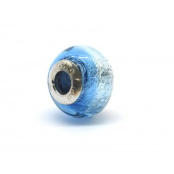 Pandora Style Bead (Mod. RSD7) in authentic Murano Glass and 925 Italian Sterling Silver