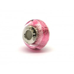 Pandora Style Bead (Mod. RSD11) in authentic Murano Glass and 925 Italian Sterling Silver