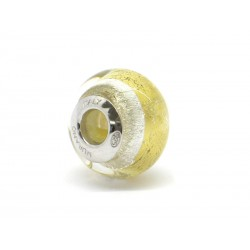 Pandora Style Bead (Mod. RSD12) in authentic Murano Glass and 925 Italian Sterling Silver