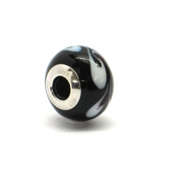 Pandora Style Bead (Mod. RHD1) in authentic Murano Glass and 925 Italian Sterling Silver