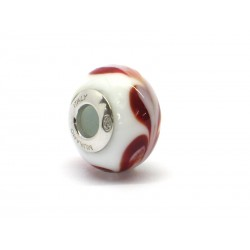 Pandora Style Bead (Mod. RHD3) in authentic Murano Glass and 925 Italian Sterling Silver