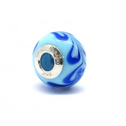 Pandora Style Bead (Mod. RHD9) in authentic Murano Glass and 925 Italian Sterling Silver