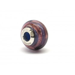 Pandora Style Bead (Mod. RMIR1) in authentic Murano Glass and 925 Italian Sterling Silver