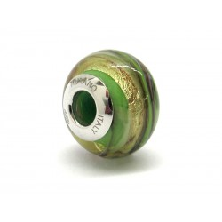 Pandora Style Bead (Mod. RMIR3) in authentic Murano Glass and 925 Italian Sterling Silver
