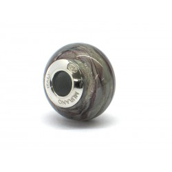 Pandora Style Bead (Mod. RMIR4) in authentic Murano Glass and 925 Italian Sterling Silver