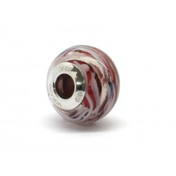 Pandora Style Bead (Mod. RMIR6) in authentic Murano Glass and 925 Italian Sterling Silver