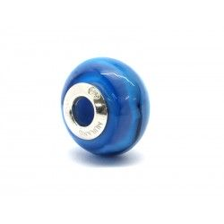 Pandora Style Bead (Mod. RNV3) in authentic Murano Glass and 925 Italian Sterling Silver