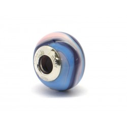 Pandora Style Bead (Mod. RNV6) in authentic Murano Glass and 925 Italian Sterling Silver