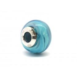 Pandora Style Bead (Mod. RNV8) in authentic Murano Glass and 925 Italian Sterling Silver