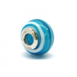Pandora Style Bead (Mod. RNV15) in authentic Murano Glass and 925 Italian Sterling Silver