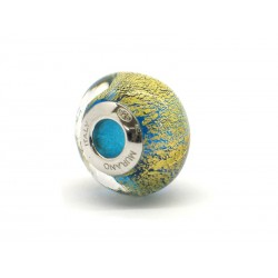 Pandora Style Bead (Mod. FO103) in authentic Murano Glass and 925 Italian Sterling Silver