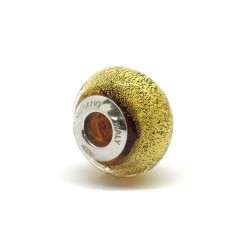 Pandora Style Bead (Mod. FO106) in authentic Murano Glass and 925 Italian Sterling Silver