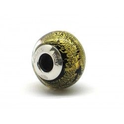 Pandora Style Bead (Mod. FO108) in authentic Murano Glass and 925 Italian Sterling Silver