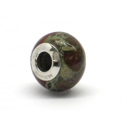 Pandora Style Bead (Mod. RST1) in authentic Murano Glass and 925 Italian Sterling Silver