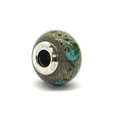 Pandora Style Bead (Mod. RST2) in authentic Murano Glass and 925 Italian Sterling Silver