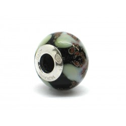 Pandora Style Bead (Mod. RST4) in authentic Murano Glass and 925 Italian Sterling Silver