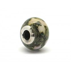 Pandora Style Bead (Mod. RST5) in authentic Murano Glass and 925 Italian Sterling Silver