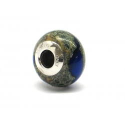 Pandora Style Bead (Mod. RST7) in authentic Murano Glass and 925 Italian Sterling Silver