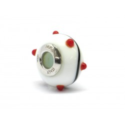 Pandora Style Bead (Mod. RZP1) in authentic Murano Glass and 925 Italian Sterling Silver
