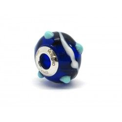 Pandora Style Bead (Mod. RZP3) in authentic Murano Glass and 925 Italian Sterling Silver