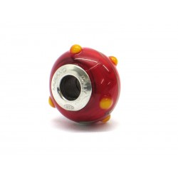 Pandora Style Bead (Mod. RZP5) in authentic Murano Glass and 925 Italian Sterling Silver