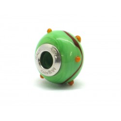 Pandora Style Bead (Mod. RZP7) in authentic Murano Glass and 925 Italian Sterling Silver