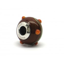Pandora Style Bead (Mod. RZP8) in authentic Murano Glass and 925 Italian Sterling Silver