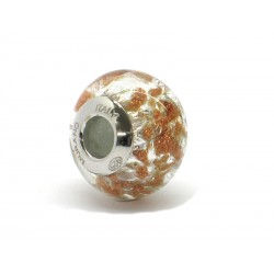 Pandora Style Bead (Mod. RSC1) in authentic Murano Glass and 925 Italian Sterling Silver