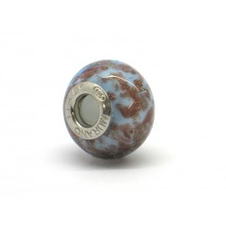 Pandora Style Bead (Mod. RSC2) in authentic Murano Glass and 925 Italian Sterling Silver