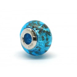 Pandora Style Bead (Mod. RSC3) in authentic Murano Glass and 925 Italian Sterling Silver