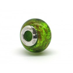 Pandora Style Bead (Mod. RSC6) in authentic Murano Glass and 925 Italian Sterling Silver