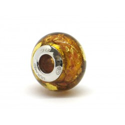 Pandora Style Bead (Mod. RSC7) in authentic Murano Glass and 925 Italian Sterling Silver