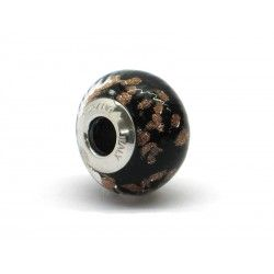 Pandora Style Bead (Mod. RAM1) in authentic Murano Glass and 925 Italian Sterling Silver