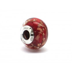 Pandora Style Bead (Mod. RAM2) in authentic Murano Glass and 925 Italian Sterling Silver